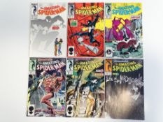 AMAZING SPIDER-MAN #290, 291, 292, 293, 294, 295 (6 in Lot) - (1987 - MARVEL) - Flat/Unfolded - a