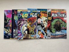 MARVEL HORROR LOT (Group of 6) - To include MAN-THING (1979) #1 + MARVEL SPOTLIGHT: SCARECROW (1976)