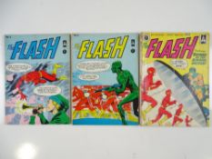 FLASH #2, 3, 5 - (3 in Lot) - (1962/63 - DC/THORPE & PORTER - UK Edition) - Flat/Unfolded - a