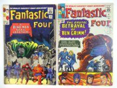 FANTASTIC FOUR #39 & 41 - (2 in Lot) - (1965 - MARVEL - UK Cover Price) - Daredevil, Doctor Doom,