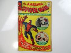 AMAZING SPIDER-MAN #8 - (1964 - MARVEL - UK Price Variant) - Peter Parker fights Flash Thompson +