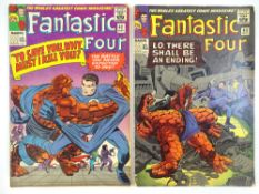 FANTASTIC FOUR #42 & 43 - (2 in Lot) - (1965 - MARVEL - UK Cover Price) - Doctor Doom, Frightful