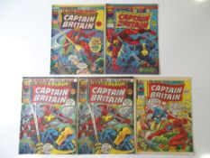 CAPTAIN BRITAIN #3, 4, 5 (x 2), 20 - (5 in Lot) - (MARVEL UK - 1976) - Flat/Unfolded - a