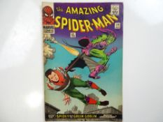 AMAZING SPIDER-MAN #39 - (1966 - MARVEL - UK Price Variant) - Green Goblin is unmasked as Norman