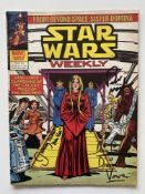 STAR WARS WEEKLY # 86 - SIGNED DAVE PROWSE + JEREMY BULLOCH + PETER MAYHEW - (1979 - BRITISH