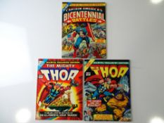 MARVEL TREASURY EDITIONS (3 in Lot) includes #3 - THOR (1974) + #5 + THOR (1976) + #16 + CAPTAIN