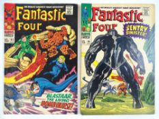 FANTASTIC FOUR #63 & 64 - (2 in Lot) - (1967 - MARVEL - UK Price Variant) - First appearance of