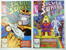 SILVER SURFER #34 & 35 - (2 in Lot) - (1980 - MARVEL) - Thanos & Drax the Destroyer appearances -