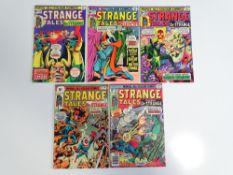 STRANGE TALES #182, 183, 184, 185, 187 (5 in Lot) - (1975/76 - MARVEL - UK Price Variant) - Flat/