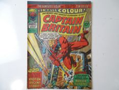 "CAPTAIN BRITAIN #8 - (MARVEL UK -1976) - First appearance of Elisabeth ""Betsy"" Braddock, who becomes"