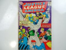 "JUSTICE LEAGUE OF AMERICA #21 - (1963 - DC - UK Cover Price) - ""Crisis on Earth-One"" book re-"