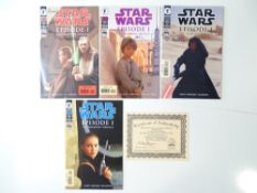 STAR WARS: EPISODE I - THE PHANTOM MENACE - SIGNED DYNAMIC FORCES LIMITED EDITIONS - (1999 - DARK
