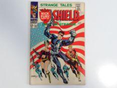 STRANGE TALES #167 - (1968 - MARVEL - UK Cover Price) - Classic Jim Steranko 'Flag' cover - Flat/