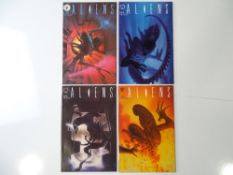 ALIENS #1, 2, 3, 4 - (4 in Lot) - (1989/90 - DARK HORSE) - Complete 4 issue limited series run - ALL