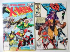 X-MEN - SPECIAL EDITION #1 & HEROES FOR HOPE #1 (2 in Lot) - (1983/85 - MARVEL) - Flat/Unfolded -