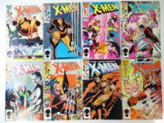 UNCANNY X-MEN #206, 207, 208, 209, 210, 211, 212, 213 (8 in Lot) - (1986/87 - MARVEL) - Flat/