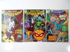 AMAZING SPIDER-MAN #76, 79, 88 - (3 in Lot) - (1969/70 - MARVEL - US Price & UK Price Variant) -