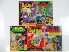 BATMAN #170, 172, 173, 174, 175 - (5 in Lot) - (1965 - DC - UK Cover Price) - Flat/Unfolded - a
