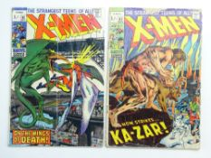 UNCANNY X-MEN # 61 & 62 - (1969 - MARVEL Pence Copy) - Sauron's second appearance + Magneto and Ka-