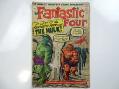 FANTASTIC FOUR #12 - (1963 - MARVEL - UK Price Variant) - KEY Silver Age Issue - First meeting of
