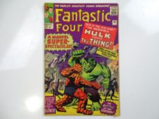 FANTASTIC FOUR #25 - (1964 - MARVEL - UK Price Variant) - First Hulk vs. Thing battle + third