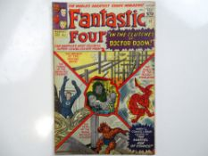 FANTASTIC FOUR #17 - (1963 - MARVEL - UK Price Variant) - Fantastic Four battle Doctor Doom, and