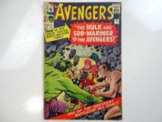 AVENGERS #3 - (1964 - MARVEL - UK Price Variant) - First Hulk / Sub-Mariner team-up (Defenders) +
