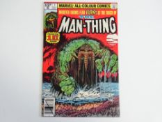 MAN-THING #1 - (1979 - MARVEL - UK Price Variant) - Second standalone series - Bob Wiacek cover with
