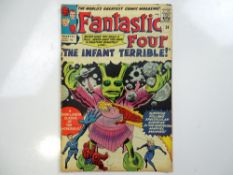 FANTASTIC FOUR #24 - (1964 - MARVEL - UK Price Variant) - Jack Kirby cover and interior art - Flat/