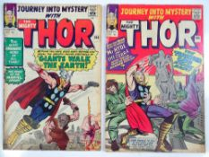 JOURNEY INTO MYSTERY: THOR #104 & 106 - (2 in Lot) - (1964 - MARVEL - UK Price Variant) - Surtur,