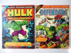MARVEL TREASURY EDITIONS (2 in Lot) includes - HULK (1975) + #10 - DEFENDERS (1978) Flat/