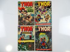 THOR #128, 129, 130, 131 - (4 in Lot) - (1966 - MARVEL - UK Price Variant) - Flat/Unfolded - a