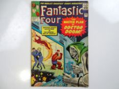FANTASTIC FOUR #23 - (1963 - MARVEL - UK Price Variant) - Doctor Doom appearance - Jack Kirby and