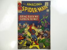 """AMAZING SPIDER-MAN #27 - (1965 - MARVEL - UK Cover Price) - Green Goblin appearance + """"Death"""" of the"""