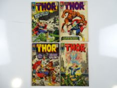 THOR #132, 135, 137, 138 - (4 in Lot) - (1966/67 - MARVEL - UK Price Variant) - Flat/Unfolded - a
