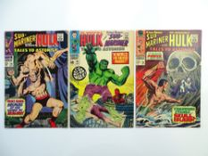 TALES TO ASTONISH # 94, 95, 96 (Group of 3) - (1967 - MARVEL - Cents & Pence Copy) - Hulk and Sub-