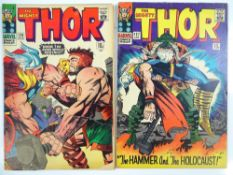 THOR #126 &127 - (2 in Lot) - (1966 - MARVEL - UK Price Variant) - Run includes first issue of the