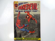 DAREDEVIL #16 - (1966 - MARVEL - UK Price Variant) - Spider-Man crossover - First appearance of