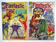 FANTASTIC FOUR #59 & 60 - (2 in Lot) - (1967 - MARVEL - UK Price Variant) - Inhumans, Silver Surfer,