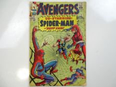 AVENGERS #11 - (1964 - MARVEL - UK Cover Price) - Early Spider-Man crossover + Kang the Conqueror