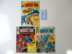 COMPLETE FANTASTIC FOUR - (3 in Lot) - (MARVEL UK - 1977) - Includes #1 (includes Free Gift - unmade