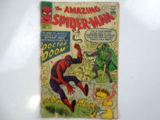 AMAZING SPIDER-MAN #5 - (1963 - MARVEL - UK Price Variant) - Doctor Doom meets Spider-Man and