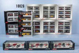 Konv. ca. 80 Schuco Die Cast/Metal Edition Modellfahrzeuge, dabei Einsatzfahrzeuge, Pkw,