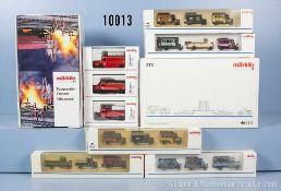 Konv. 18 Märklin H0 Modellfahrzeuge, Set-Packung 46824 sowie Händler-Leerkarton 00784,