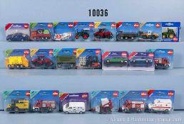 Konv. ca. 100 Siku Modellfahrzeuge, dabei Baufahrzeuge, Einsatzfahrzeuge, landwirtschaftl.