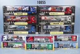 """Konv. 26 Modellfahrzeuge Lkw Lastzüge, teilweise Serie """"2006 Fifa World Cup"""", teilweise mit"""