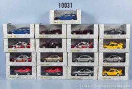 Konv. 17 Schuco Junior Line Exclusiv Edition Modellfahrzeuge, dabei Pkw, Sportwagen, Rallyewagen,