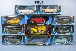 Konv. 11 Solido Modellfahrzeuge, dabei Pkw, Oldtimer usw., Metallausf., M 1:18, sehr guter bis