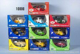 Konv. 10 Revell Metal Modellfahrzeuge, dabei BMW Isetta, Goggomobil, Messerschmitt und Lloyd