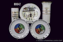 """Konv. versch. Porzellan Teile, dabei Rosenthal Vase """"Schiedsrichter Vereinigung Marktredwitz Juli"""